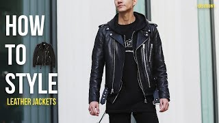 HOW TO STYLE LEATHER JACKETS | + LAC.LA DISCOUNT