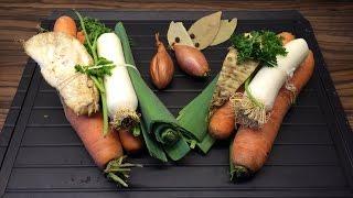 Gemüsefond - So kocht ihr nicht nur mit Wasser