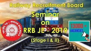 RRB JE 2019 (Stage I & Stage II) Seminar 13000 + Vacancies KD Tech