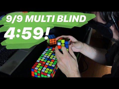 9/9 Multi-Blind in 4:59.49!