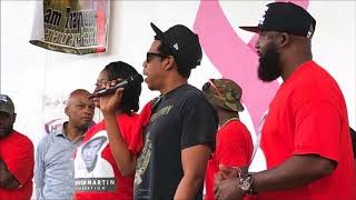Jay Z Gives Speech At Trayvon Martin Rally