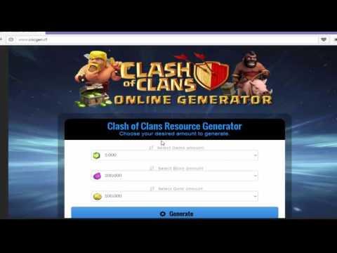 (COC Generator) - Get 9,999,999 Clash of Clasn Gems, Gold, Elixir Clash 10000 Generator - Free