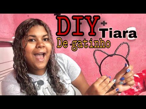 DIY Tiara De Gatinho 🐱/ Fácil E Rápido - Kelly Santos