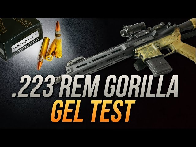 Gimmick Or Good To Go? .223 Rem Gorilla 62gr Controlled Chaos Gel Test