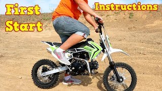Pit Bike 110cc - First Start - Instructions - Storm Cross Semi-Auto from Nitro Motors