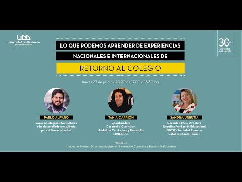 Conversatorio: Lo que podemos aprender de experiencias nacionales e internacionales de retorno al colegio