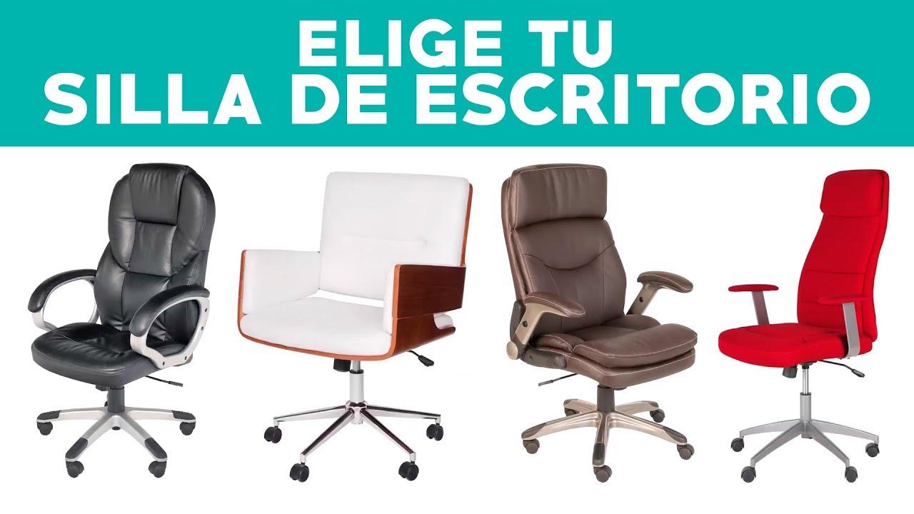 C mo elegir una silla de escritorio youtube for Sillas de escritorio sodimac