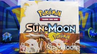 OPENING A POKEMON SUN & MOON BOOSTER BOX OF POKEMON CARDS!!!