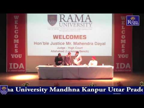 National Law Conference Rama  University Kanpur  PART I