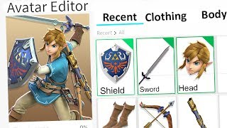 MAKING LINK FROM ZELDA A ROBLOX ACCOUNT!!