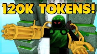 SPENDING 120K TOKENS ON A NOOB ACCOUNT (ROBLOX SUPER POWER TRAINING SIMULATOR)