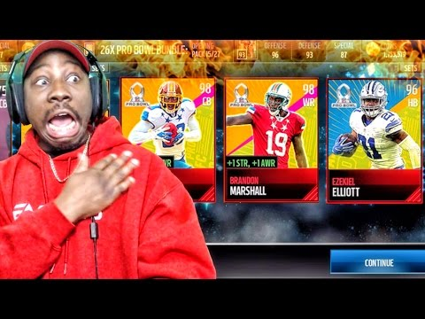 PRO BOWL PACK OPENING & 98 OVERALL HEROES! Madden Mobile 17 Gameplay Ep. 20