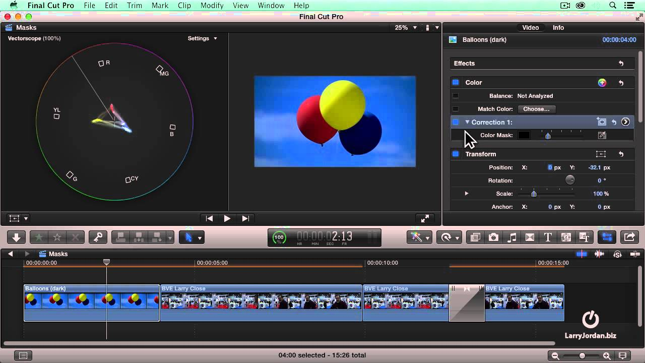Mastering Color Board Color Presets (Final Cut Pro X)