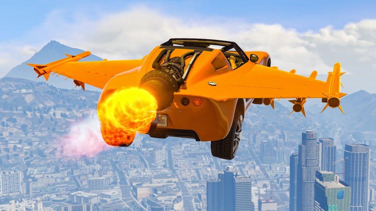 INSANE FLYING ROCKET CAR! (GTA 5 Funny Moments) - YouTube