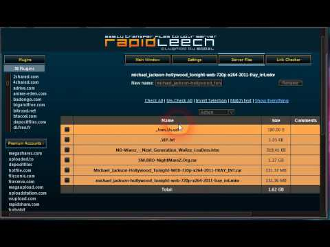How to upload by Rapidleech wmv
