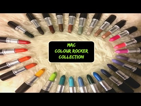MAC Colour Rocker Collection HAUL + Swatches  *ALL 28 SHADES!*
