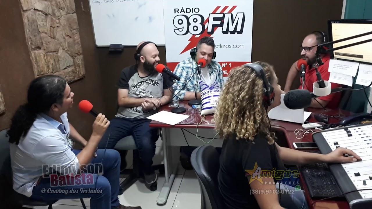 Edimilson Batista Entrevista na Radio 98 FM Montes Claro 04/08 Bloco 22  Primeira vez que ouviu toca