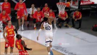 Keldon Johnson with a slam dunk as team USA leads Spain