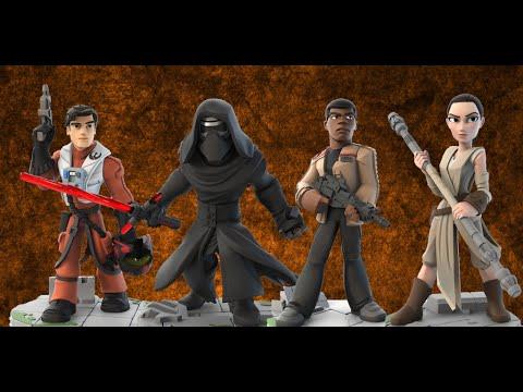 Disney Infinity 3 Star Wars The Force Awakens Figures Gameplay Livestream