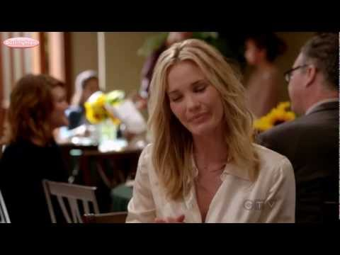 Leslie Bibb: GCB 1x04 A Wolf in Sheeps Clothing White Satin Blouse
