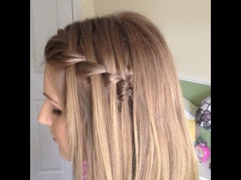 fishtailplait waterfall braid hairstyle youtube