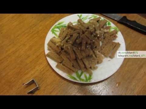 Как сделать домашние сухарики с чесноком на сковороде