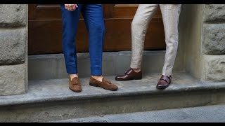 How to Go Sockless With a Suit