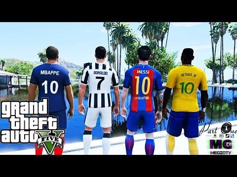 CRISTIANO RONALDO VS NEYMAR VS MESSI VS MBAPPE #1 ( GTA 5 Mods )