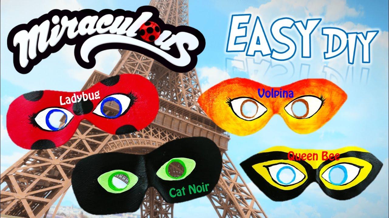 Diy Miraculous Ladybug Dress Up Masks Season 2 Rena Rouge Volpina