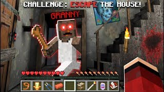 WE ESCAPE FROM GRANNY'S MINECRAFT HOUSE!