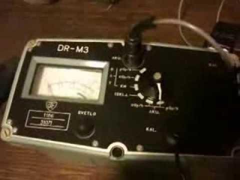 DR M3 Geiger counter measuring strontium - Gajgerov brojač - JNA