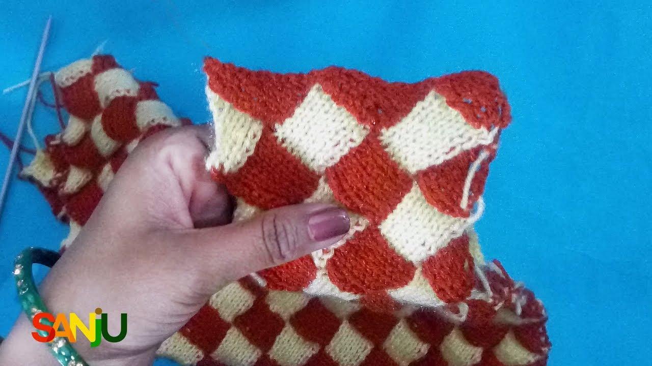 इंटरलॉक स्वेटर डिज़ाइन में फंदा किस ...