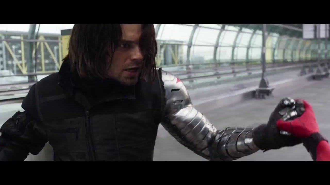captain america spiderman  u0026quot you have a metal arm  u0026quot