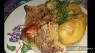 Картошка с мясом в казане!!! Ну очень просто и очень вкусно!!! Жареная картошка  с мясом 😋