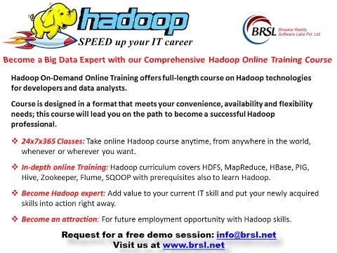 Hadoop Training | Hadoop Tutorial | Online Hadoop Training