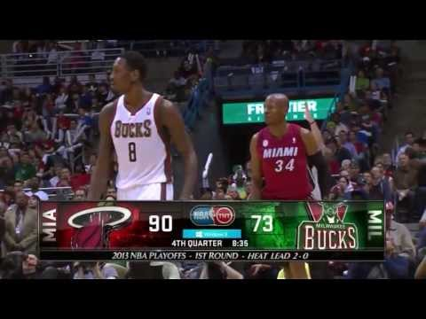 Ray Allen 23 points @ Milwaukee (Full Highlights) (NBA Playoffs GM3) (04/25/13) HD