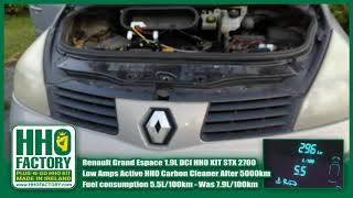 HHO KIT HHO Carbon Cleaner STX 2700 Renault Grand Espace 1.9L dCi 5.5L/100km HHO Fuel Saver kit 30%
