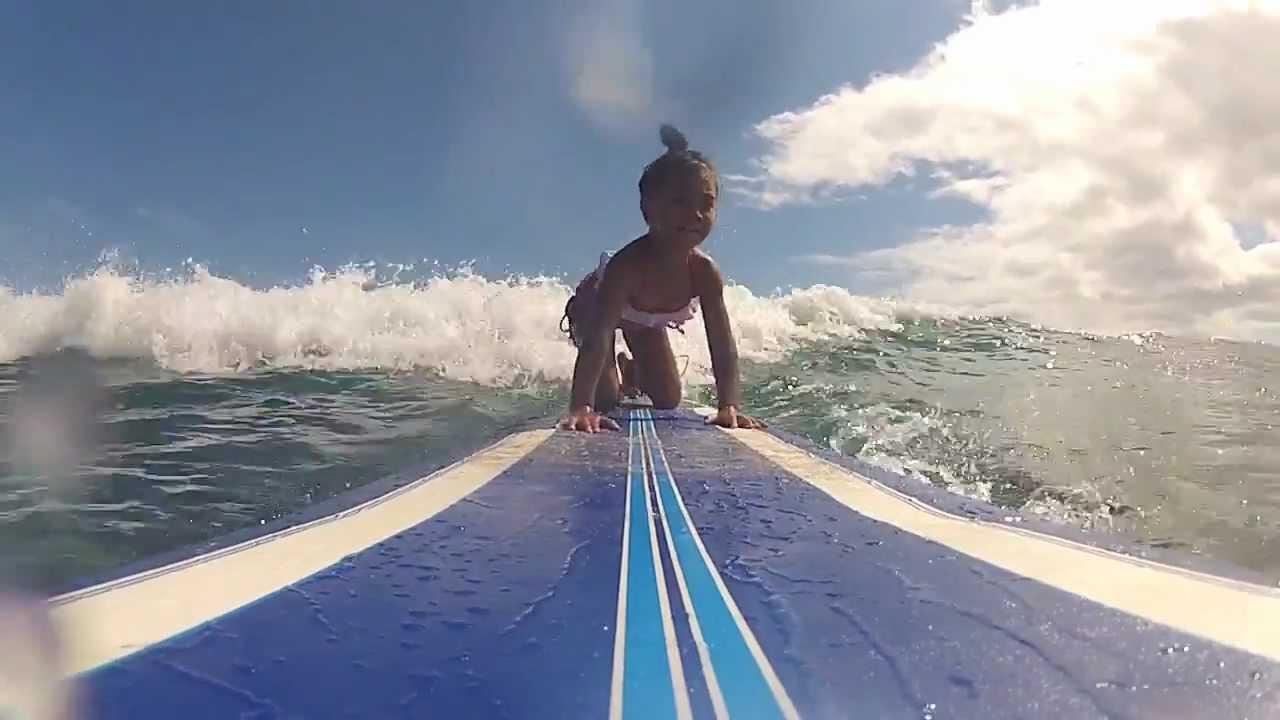 Daddys Girl Wallpaper 4 Year Old Surfer Girl Eliana From Kauai Hawaii First