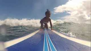 4 year old surfer girl Eliana from Kauai,Hawaii first GoPro surf video
