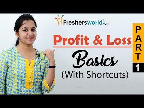 Aptitude Made Easy - Profit & Loss – Basics and Methods, Profit and loss shortcuts, Math tricks