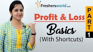 Aptitude Made Easy - Profit & Loss - Basics and Methods, Profit and loss shortcuts, Math tricks