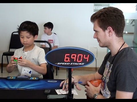 7 yrs old boy Rubik's Cube 9.80sec average