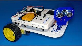 DIY Obstacle Avoiding Robot using evive Starter Kit