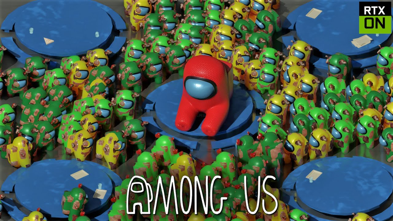 Among Us RTX On EP22 ( 99 Zombies  ) - 3D Animation