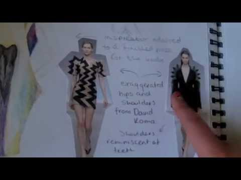Example Art Portfolio For Entry Into Fashion Design Degree Youtube
