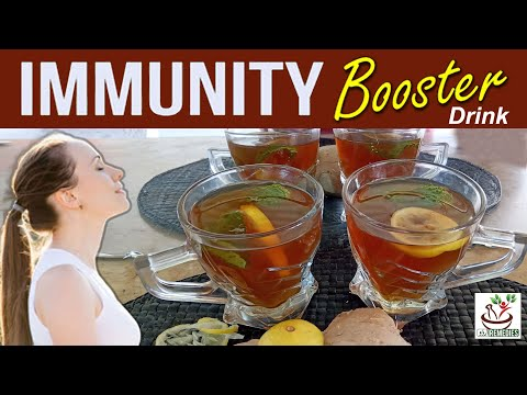 Immunity Booster Drink | Turmeric Ginger Tea | Immune Boosting Tea | Immunity Boosting Recipe