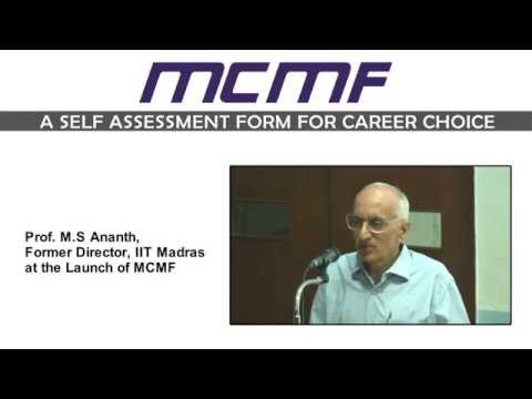 Career Guidance - MCMF - A SELF ASSESSMENT FORM FOR CAREER CHOICE