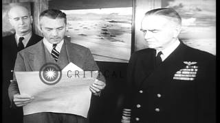 President Truman With Cabinet Members On Yacht. Admiral Halsey Promoted. Treasury...hd Stock Footage