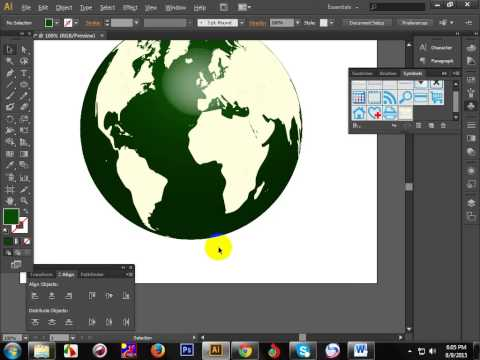 How to create world globe by using illustrator