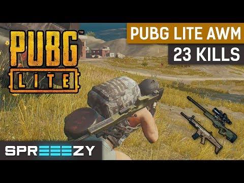 PUBG Lite 23 KILLS | 8x Scope AWM | Solo TPP Gameplay